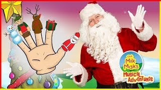 Download Christmas Finger Family Song | Christmas Nursery Rhymes for Kids | The Mik Maks Mp3 and Videos
