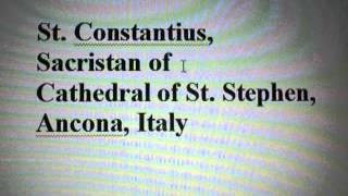GOD/Sept. 23, 2012/St. Constantius, the Sacristan/COVERS