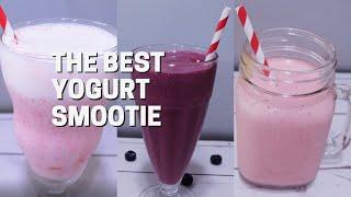 맛보장! 3가지 맛 요거트 스무디 (딸기 / 블루베리 …