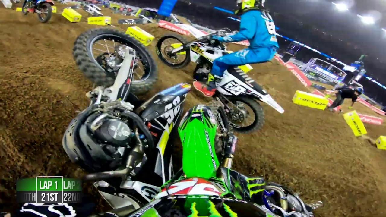GoPro: Adam Cianciarulo 2019 Houston Monster Energy Supercross Triple Crown Highlights - Motor Informed