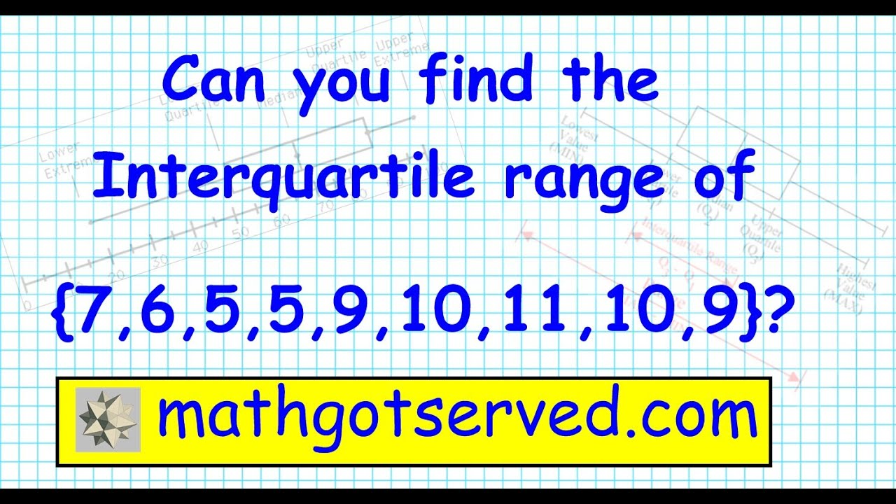 How To Find The Range Median Interquartile Range Box And