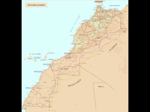 Map of the kingdom of Morocco including the Western Sahara Territory