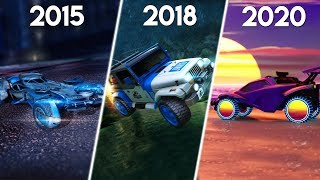 Evolution of Rocket League DLC (2015-2020)