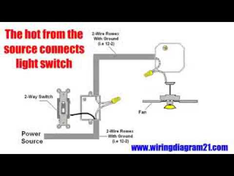 Ceiling Fan Wiring Diagram Switch Nema L6 30p Installation Hampton Bay Fans Youtube