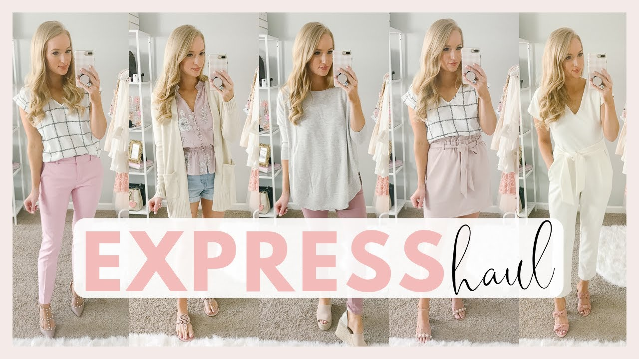 EXPRESS SPRING CLOTHING TRY ON HAUL 2019 | WORK AND CASUAL SPRING OUTFIT IDEAS | Amanda John