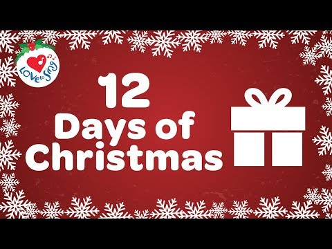 graphic relating to Twelve Days of Christmas Lyrics Printable identified as 12 Times of Xmas with Lyrics 2018 Xmas Tunes and
