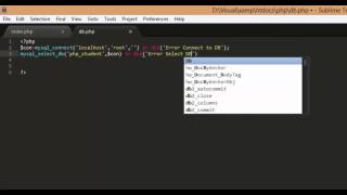 PHP and Mysql select, insert, update and delete Part1