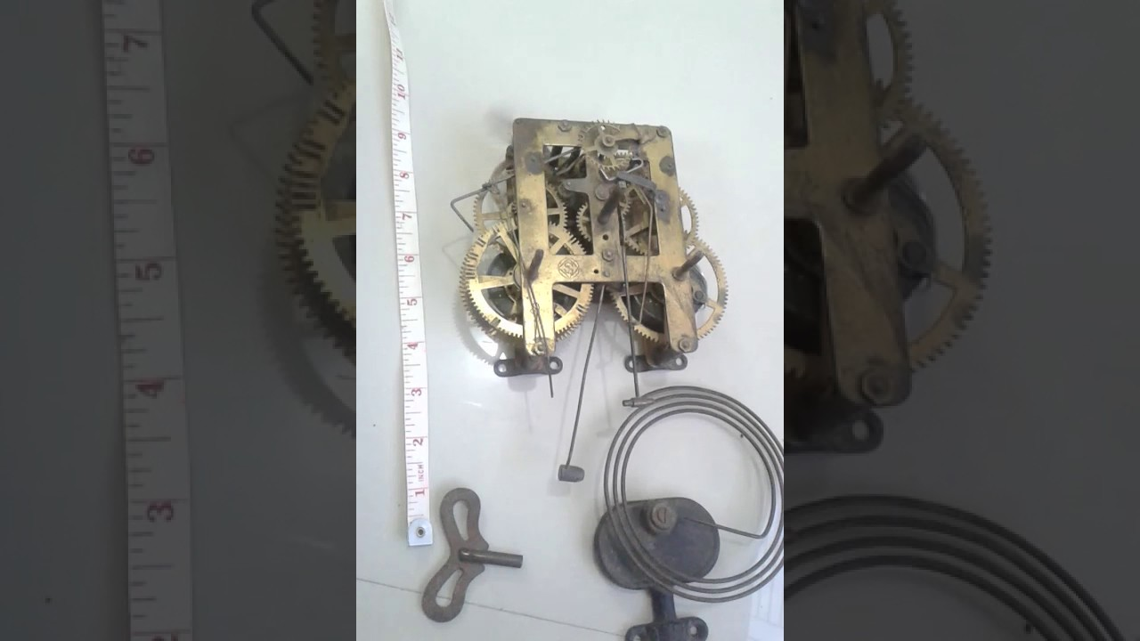 Antique Wall Clock Vintage Machine Old