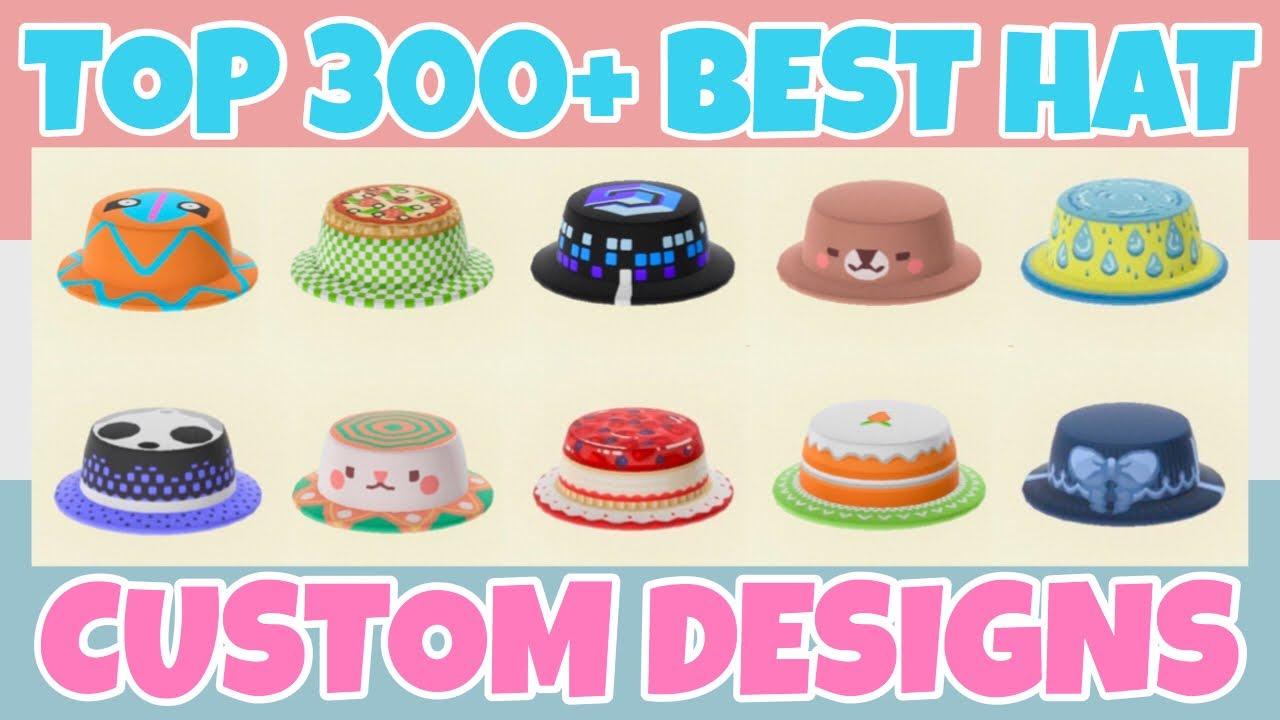 Top 300 Best Hat Custom Designs In Animal Crossing New Horizons Design Id Qr Code Youtube