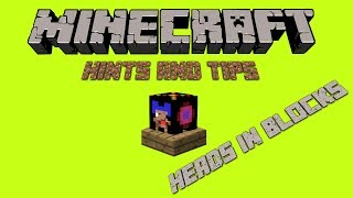 How to get your head stuck in a block!!! | Minecraft Hint and Tip