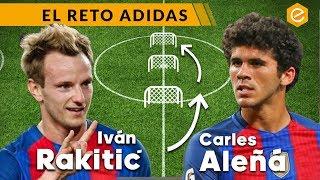 RETO PUNTERÍA con jugadores del FC BARCELONA