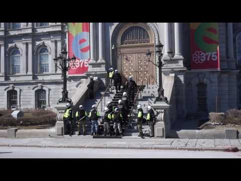 Anti-Fascist Counter Protest Against La Meute At Montreal City Hall 00001