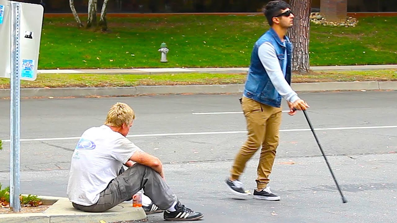 Rich VS Poor Blind Man Stealing Social Experiment  YouTube