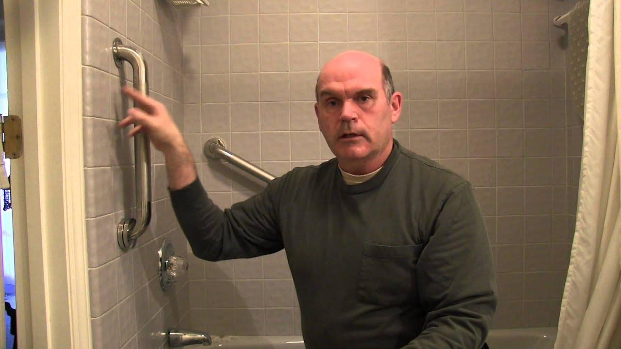 installing safety grab handles on ceramic tile tool tip 25