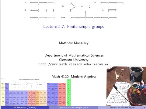 Visual Group Theory, Lecture 5.7: Finite simple groups