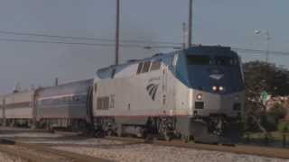 Amtrak 390 with #26 departs Carbondale with the Illini - July 2013