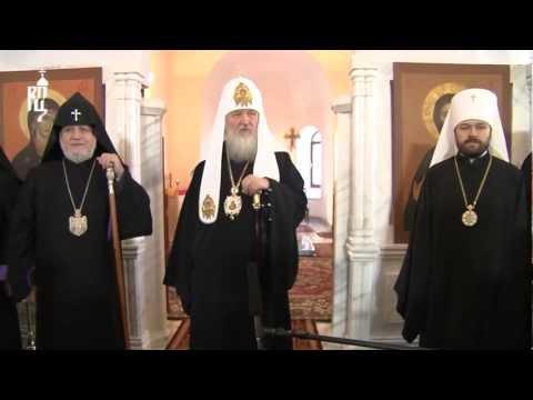 Патриарх Кирилл посетил Покровский храм в Ереване