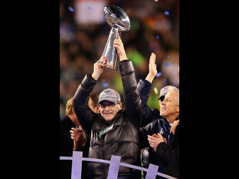 Seahawks 12th Man tribute for Paul Allen, Superbowl, Parade & Lombardi trophy - YouTube