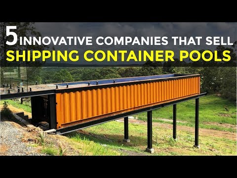 5 Innovative Companies that Sell Shipping Container Swimming Pools 2018 | SHELTERMODE.