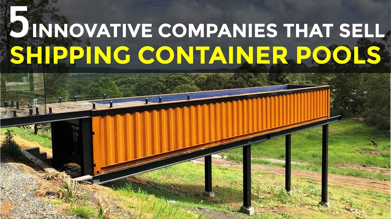5 Innovative Companies that Sell Shipping Container Swimming Pools 2018 |  SHELTERMODE