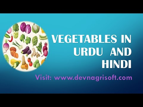 Learn Name Of Vegetables In Urdu And Hindi Video 2 Of 10 Youtube