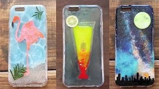 Multi Color Mobile Cover Decoration | DIY Phone Case Design |  part 1