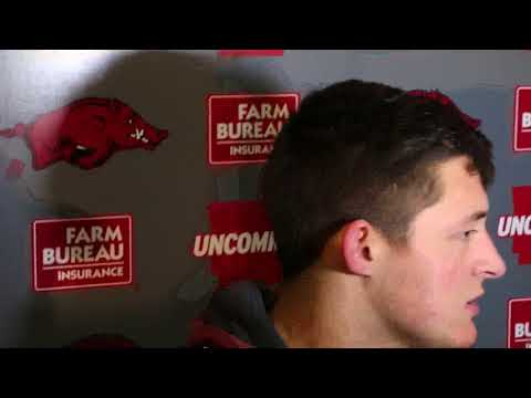 Mississippi State 28 Arkansas 21 - Uncut Post Game: Grant Morgan