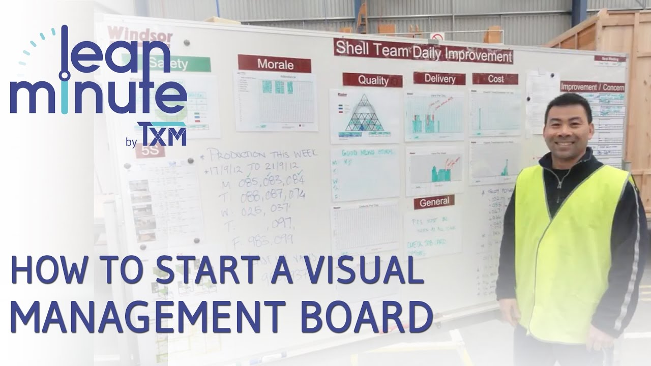Management And Board >> Txm Lean Minute How To Start A Visual Management Board Youtube