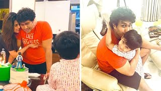 Soundarya Rajinikanth Celebrates Husband Vishgan 36th Birthday At Her Home with son Ved