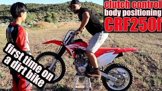 How to ride a dirt bike with a clutch, Honda CRF250f - Beginner's guide