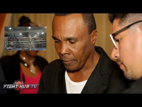 SUGAR RAY LEONARD WATCHES & REACTS TO MCGREGOR MALIGNAGGI KNOCKDOWN & SPARRING VIDEO