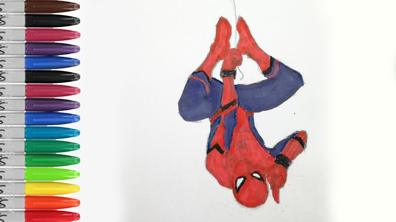 SPIDERMAN Up Side Down Coloring Pages The HOMECOMING SAILANY Kids