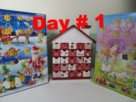 Day 1 Advent Christmas Calendar Shopkins Playmobil Moshi Monster Lego More Opening