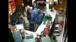 Brutal Fight in Grocery Store - Bottles Smashed - Drunk Fights