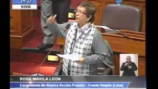 Rosa Mavila debate sobre Narcoindultos - Pleno Congreso Perú