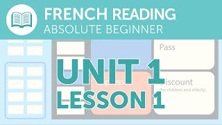 French Reading Comprehension - Buying a Train Ticket