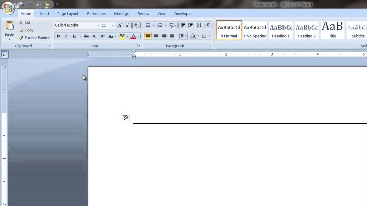 How To Create A Long Line In Microsoft Word : Tech Vice   YouTube
