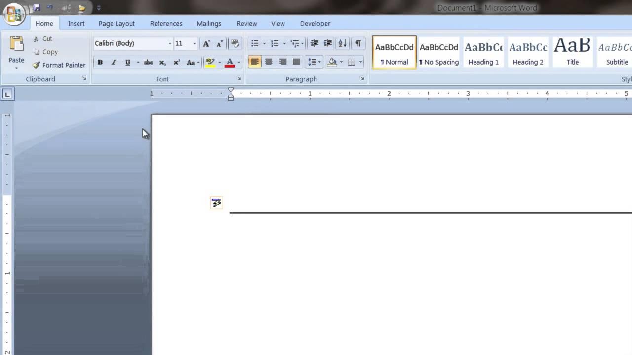 microsoft word resume underline