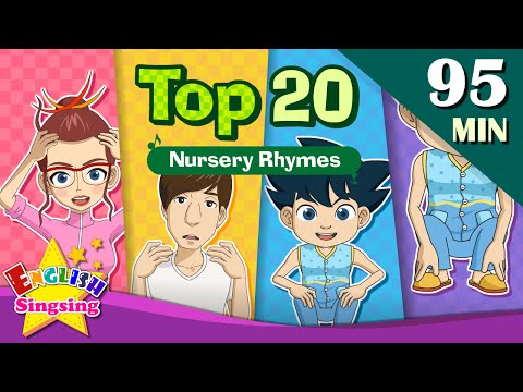 Head, Shoulders, Knees and Toes+More Nursery Rhymes | Top 20  | Collection of Kids Songs