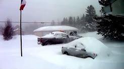 remorque d'une auto qui a pris le foss  Petit-Rocher Nord,Nouveau-Brunswick, Canada