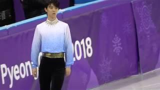 yuzuru hanyu 2018 PyeongChang SP6m practice