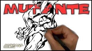 Curso de Desenho Super-Herois: Como Desenhar um Mutante! (How to Draw a Mutant Super Hero)