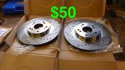 $50 eBay Rotors + Pads Review