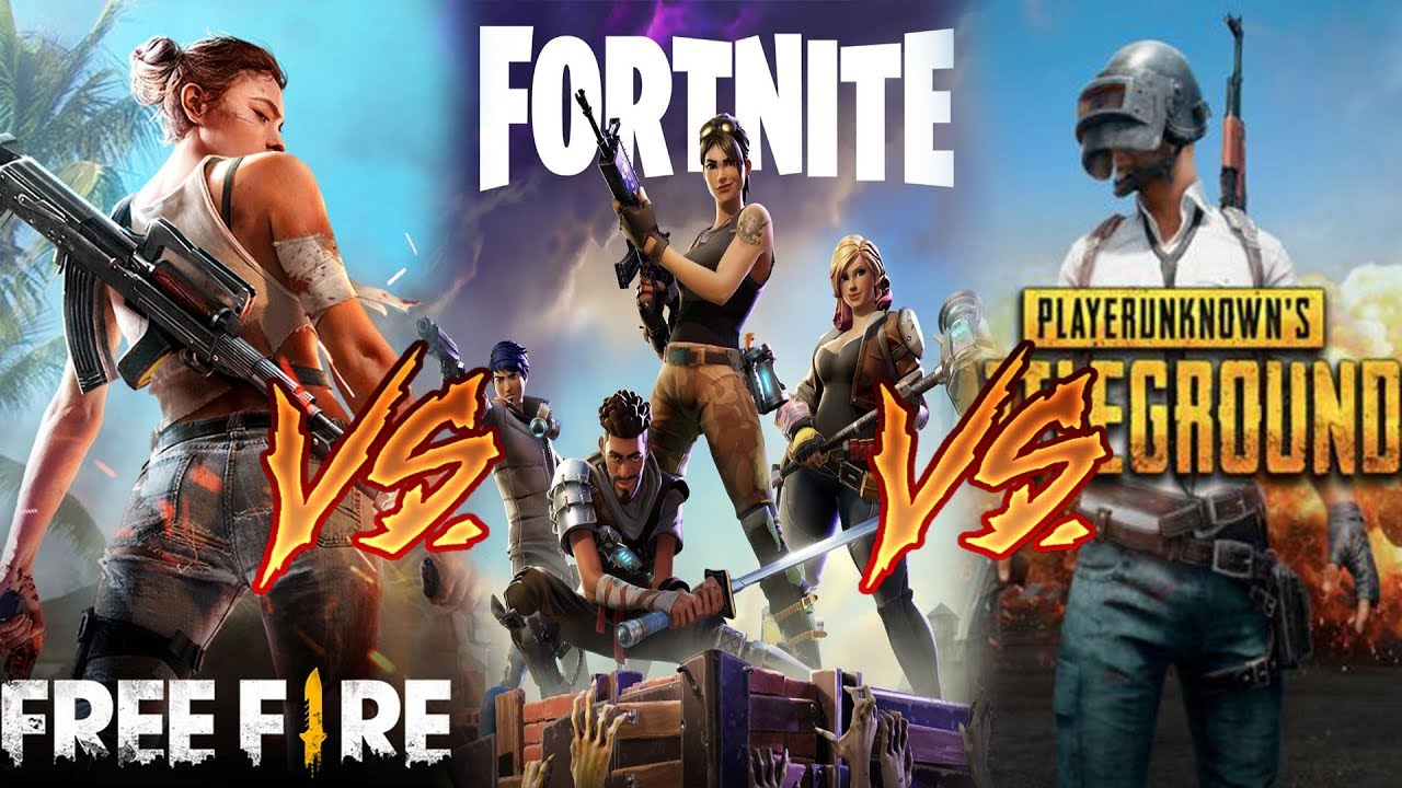 Pubg V Fortnite: FORTNITE MOBILE Vs PUBG MOBILE Vs FREE FIRE💥