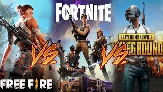 💥FORTNITE MOBILE vs PUBG MOBILE vs FREE FIRE💥