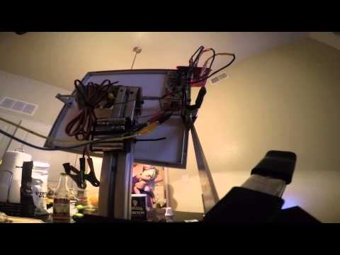 solar tracker made with 12v gear motors