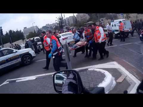 United Hatzalah of Israel at Terror Attack in Jerusalem-November 5, 2014