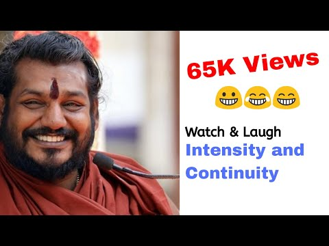 Nityananda Funny Speech Speaking About Intensity And Continuity