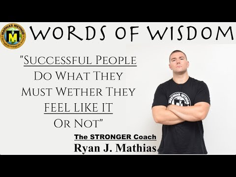 Successful People Do What They Must (Favorite Quote) Words Of Wisdom Motivation