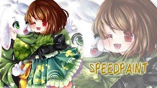 Asriel and Chara Speedpaint (Undertale)